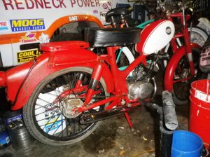 1965 Harley M50 Before 1