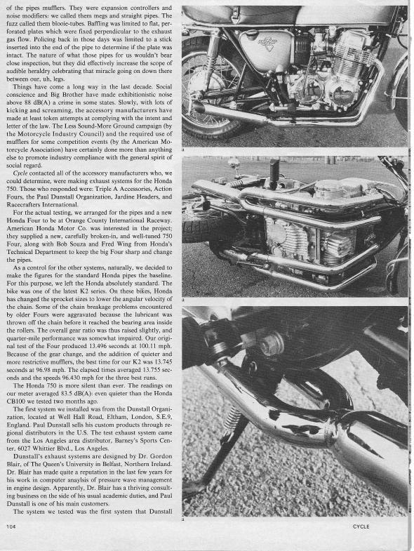 Honda CB750 Exhaust Test 002