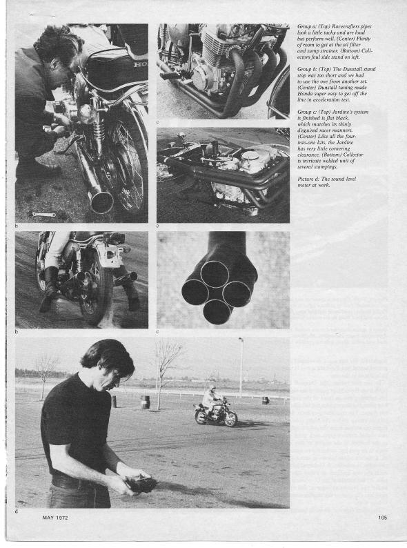Honda CB750 Exhaust Test 003