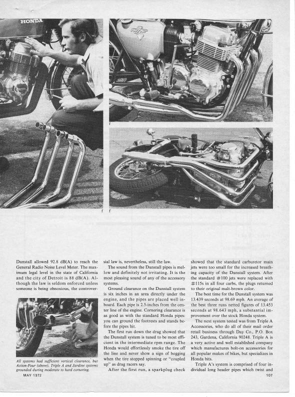 Honda CB750 Exhaust Test 005