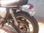 Cut down rear fender, minimalized chain guard, shortened passenger pegs