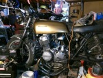 When I took this I was rewiring to make a solid state 1980 CB750 reg/rec unit work, plus undoing 20 years of neglect